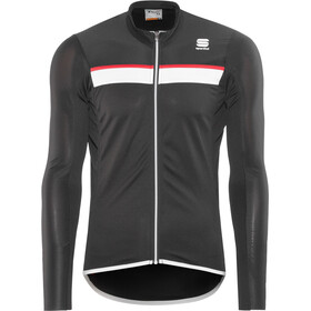 Sportful Pista Longsleeve Jersey Herren black/white-red
